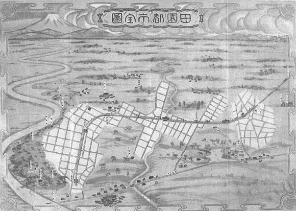 田園都市全図